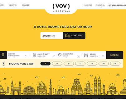 VOV Microstays Hotel Booking UI Design