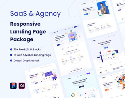SaaS & Agency Responsive Landing Page UI Kit
