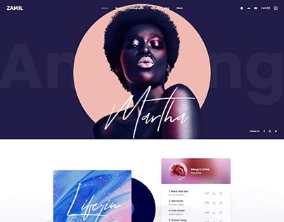 Music Label Events Website Design