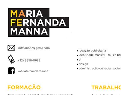 Curriculum Vitae - Maria Fernanda Manna