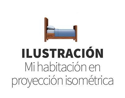 Ilustración | Mi habitación en proyección isométrica