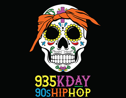 KDAY Day of the Dead Shirt Design