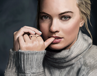 Photoshop speed painting #1 - Margot Robbie