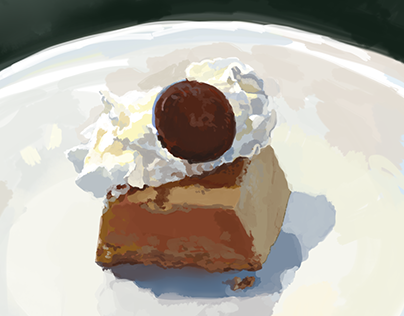 Chocolate Mousse with Whipped Cream and a Choco Button