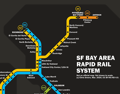 San Francisco Bay Area / commuter rail / transit map