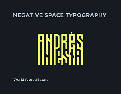 Negative space typography 3