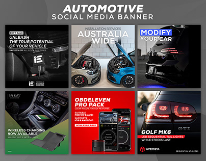 Automotive Parts - Social Media Banner Design