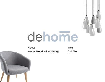 dehome - Interior App & Website