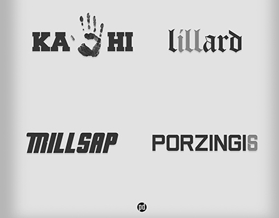NBA Player Wordplay Logos