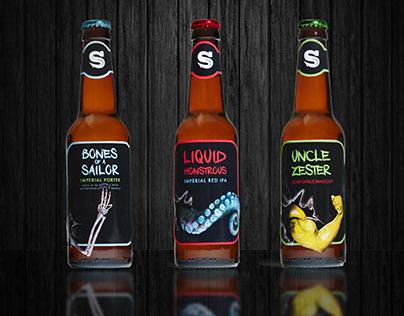 Siren Craft Beer labels