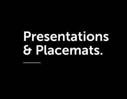 Presentations/Placemats