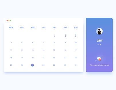Daily UI 1 # Calendar