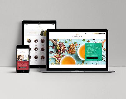 Braganza, Amantes del té -Diseño Sitio Web