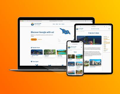 Sunny Trip Georgia - Travel Agency Web Design