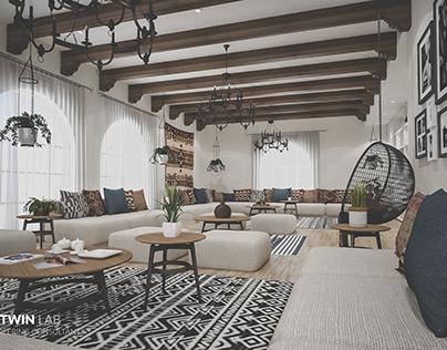 Family Living - InteriorMexican style Saudi Arabia