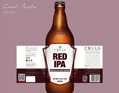Re-design Red IPA - Cruls Cervejaria