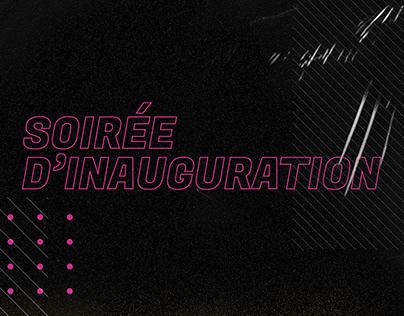 INVITATION SOIRÉE D'INAUGURATION