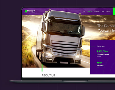 Website design for Trucking Times by Kadirov