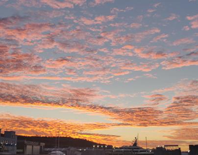 Sunset in Genova