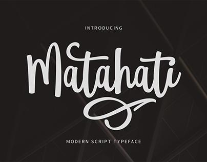 Matahati Script Font