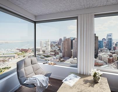 Residential Tower interior, Boston, USA