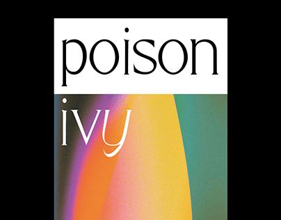 Poison Ivy typeface