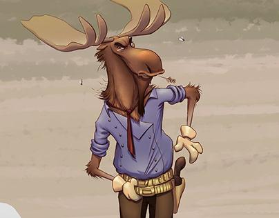 Cowboy Moose
