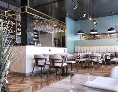Pastel Cafe Design