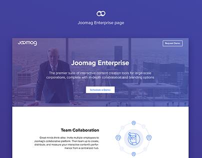 Joomag Enterprise page