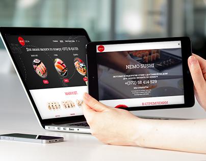 Sushi delivery website