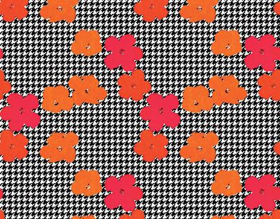 "Pop Poule"" Pattern / background."