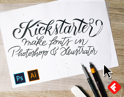 Create your own font in Photoshop & Illustrator