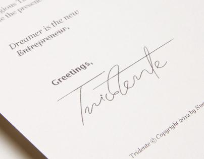Tridente's New Stationery