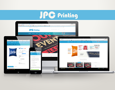 JPC - Printing & Personalised Gifts - Website Design