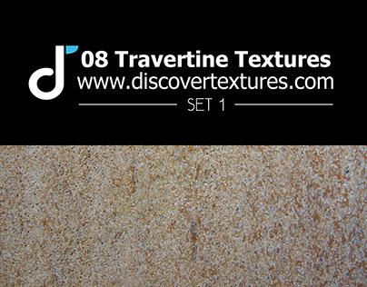 Set of travertine texture 1