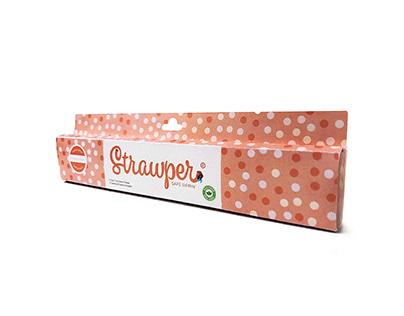 Strawper (A Made Up Use For Chopsticks) Package Design