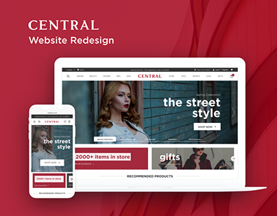 Central Department Store Website Redesign