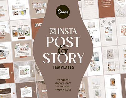 Instagram Post Story Templates Canva - Carousel