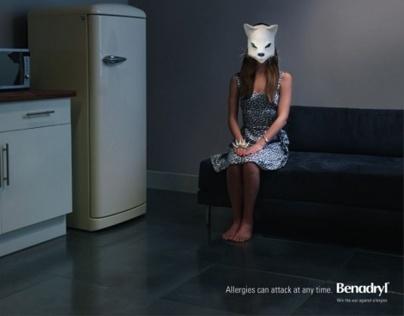 Benadryl ads against allergies