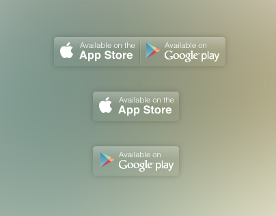 Apple and Google button downloads