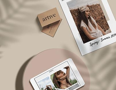 Artive Corporate Identity & Stationery Set Design