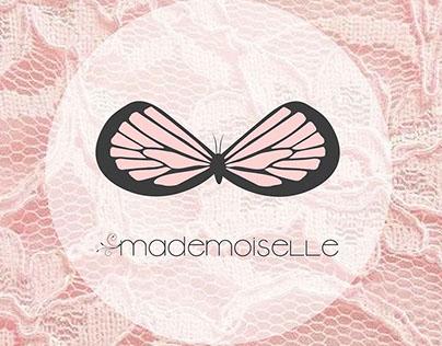 Mademoiselle. Logotipo para tienda de lencería.