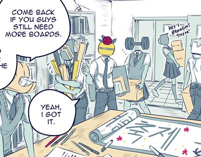 Object Head Comics (4pg, 4 pg, 6 pg comic)