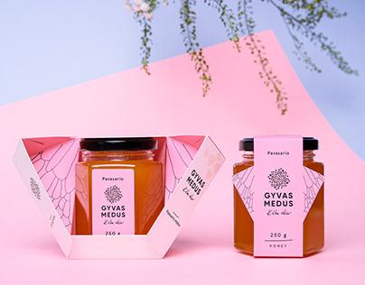 Gyvas medus packaging