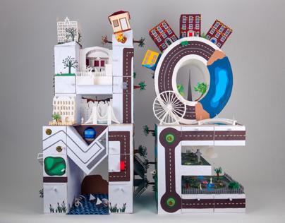 HOME | 3D paper letters