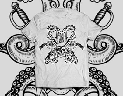 Pirate Skull T-Shirt Design