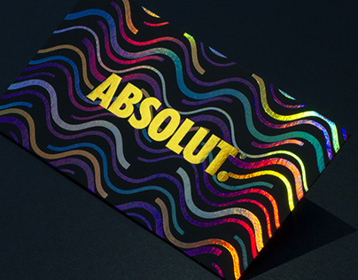 Retro Foil Business Cards for Absolut