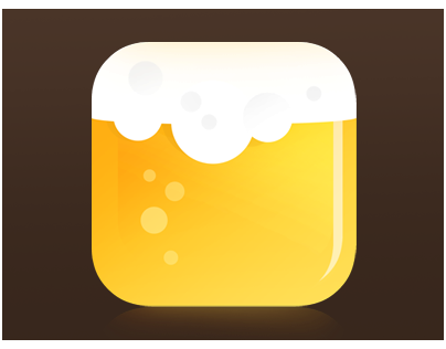 Beer, Flat Ios Icon Design.