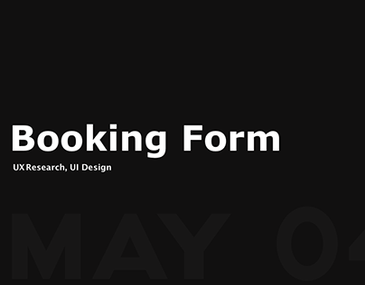Booking Form Improvement Design