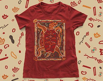 Zenon the turtle / Illustration / 5-color tee design